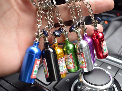 NOS Mini Nitrous Oxide Bottle Keychain