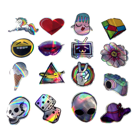 "55 PCS ""Laser Reflective"" Waterproof Stickers-SALE"