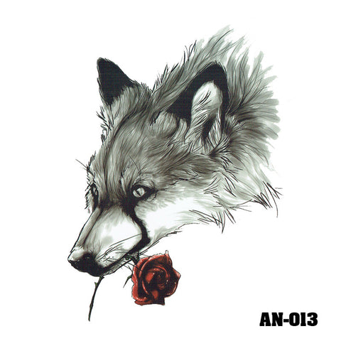 Removable & Waterproof WOLF Temporary Tattoo-Large Sheet 21cmx15cm