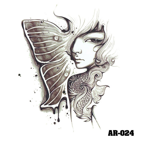 Removable & Waterproof BEAUTY-A Temporary Tattoo-Large Sheet 21cmx15cm
