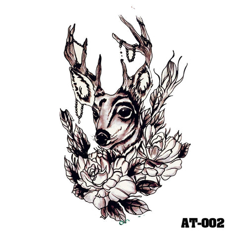 Removable & Waterproof ANTLER Temporary Tattoo-Large Sheet 21cmx15cm