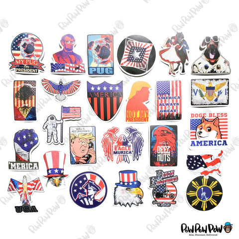 "90 PCS ""America"" Vinyl Stickers"
