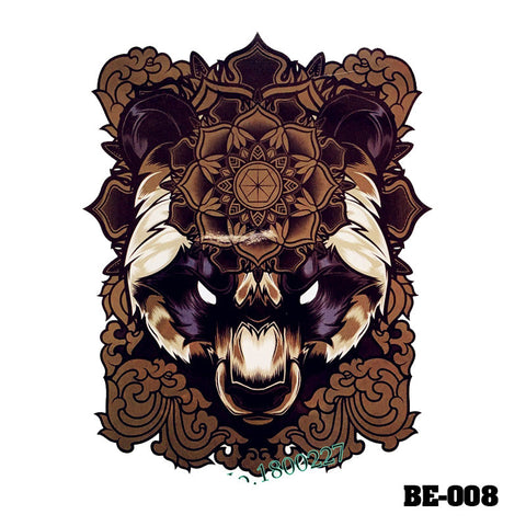 Removable & Waterproof BEAST-B Temporary Tattoo-Large Sheet 21cmx15cm