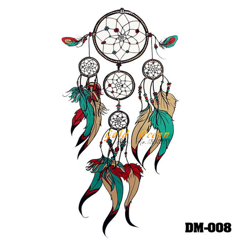 Removable & Waterproof DREAMCATCHER-B Temporary Tattoo-Large Sheet 21cmx15cm