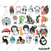 "Image of 100 PCS ""Designer Animals"" Vinyl Stickers"
