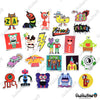 "Image of 50 PCS ""Designer Monsters"" Vinyl Stickers"