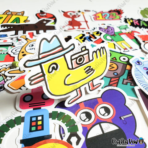 "50 PCS ""Designer Monsters"" Vinyl Stickers"