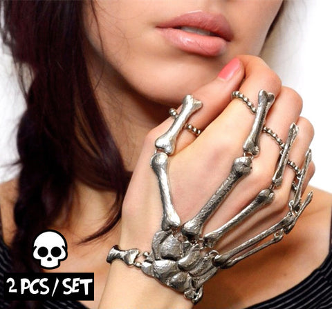 Skeleton Hand Bangles (2PCS / SET)