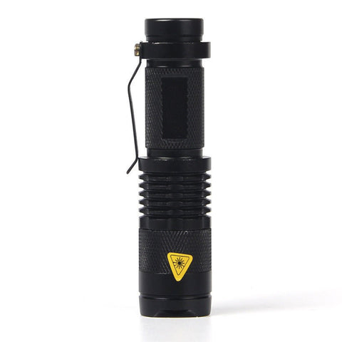 LED Tactical 2000 lumens Ultra Bright Flashlight- Zoomable, 3 Torch Modes, Black
