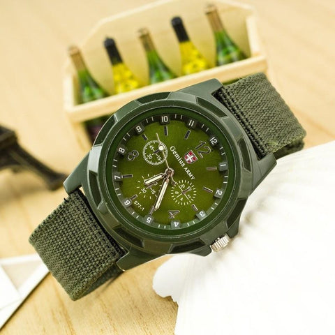 Military Army Quartz Sport Watch for Men - FREE + Shipping