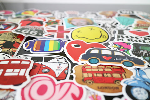 200 PCS Waterproof PVC Stickers- Random-No Duplicates-SALE