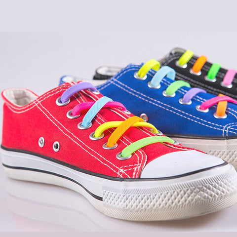 No-Tie Elastic Silicone Shoelaces 16pcs/set- Multi-Color Version