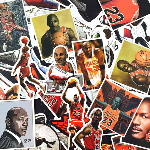 "45 PCS ""Jordan"" Theme Stickers-No Duplicates"