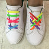 Image of No-Tie Elastic Silicone Shoelaces 16pcs/set- Multi-Color Version