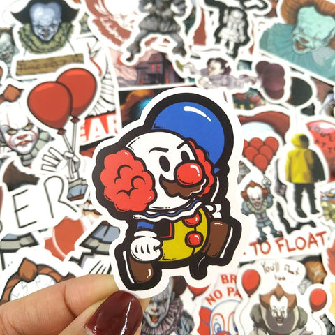 "50 PCS ""IT Pennywise"" Stickers"