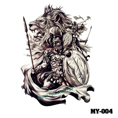 Removable & Waterproof MYTHIC-A Temporary Tattoo-Large Sheet 21cmx15cm