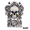 Image of Removable & Waterproof SKULL-A Temporary Tattoo-Large Sheet 21cmx15cm