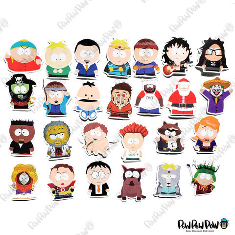 "50 PCS ""South Park"" Vinyl Stickers"