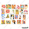 "Image of 47 PCS ""Tease Vulgar"" Vinyl Stickers"