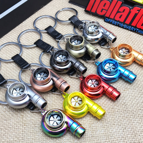 Spinning Turbo Keychain with Whistle Sound