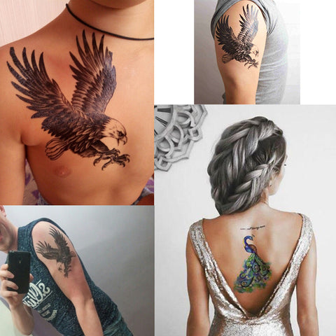 Removable & Waterproof WINGS Temporary Tattoo-Large Sheet 21cmx15cm