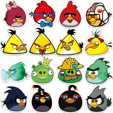 "50 PCS ""Angry Birds"" Stickers"