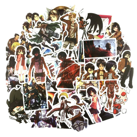 "40 PCS ""Attack on Titan"" Waterproof Stickers"