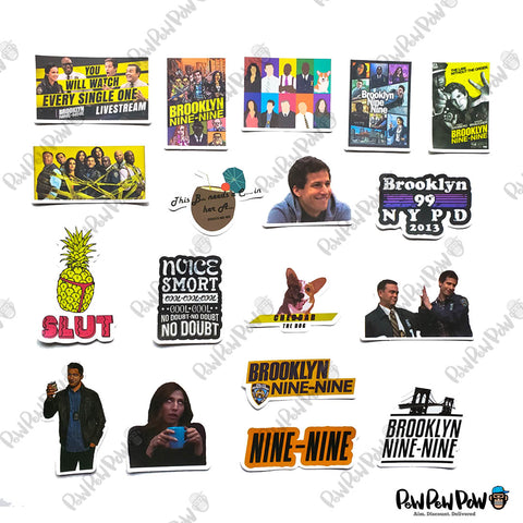 "50 PCS ""Brooklyn Nine Nine"" Vinyl Sticker Pack"