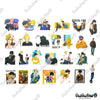 "Image of 50 PCS ""Banana Fish"" Vinyl Sticker Pack"