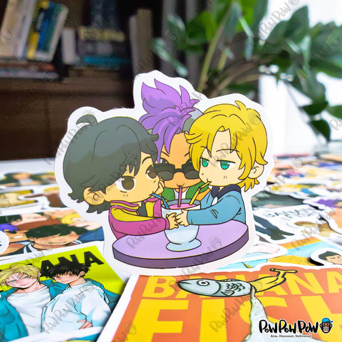 "50 PCS ""Banana Fish"" Vinyl Sticker Pack"