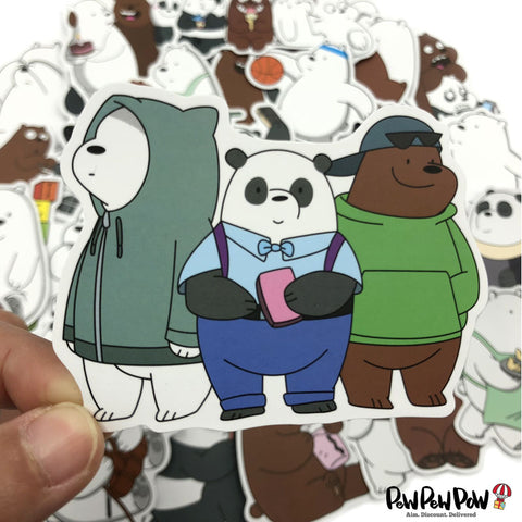 "35 PCS ""Bare Bears"" Waterproof Stickers-SALE"