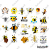 "Image of 50 PCS ""Bee"" Vinyl Sticker Pack"