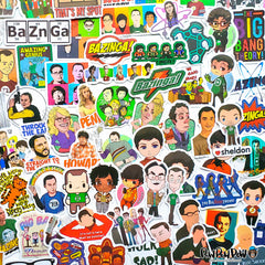 "100 PCS ""Big Bang Theory"" Vinyl Sticker Pack"