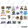"Image of 50 PCS ""Black Mirror"" Vinyl Stickers"