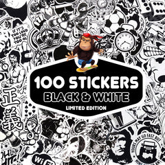 Limited Edition-100 PCS Black & White Stickers-SALE