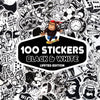 Image of Limited Edition-100 PCS Black & White Stickers-SALE