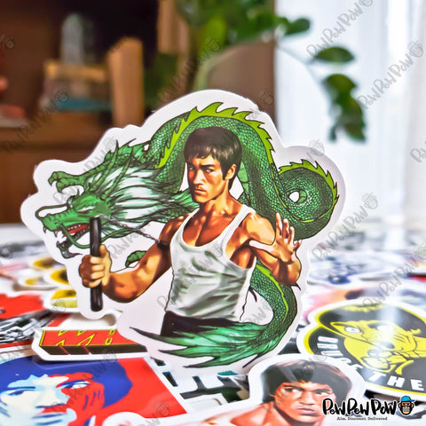 "50 PCS ""Bruce Lee"" Vinyl Sticker Pack"