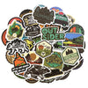 "Image of 50 PCS ""Camping"" Stickers"