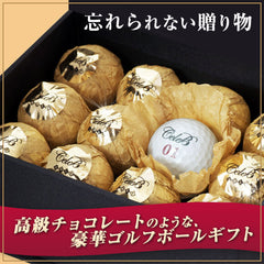 Super Deluxe Luxury Golf Ball Gift Set (Pack of 12)