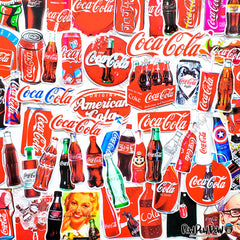 "70 PCS ""Coca Cola"" Vinyl Sticker Pack"