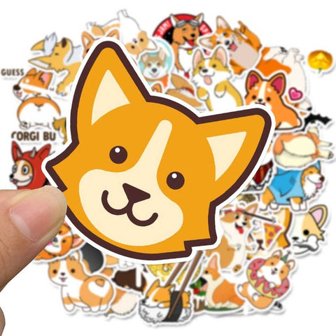 "50 PCS ""Corgi"" Stickers"