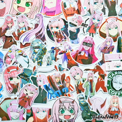 "50 PCS ""Darling in the Franxx"" Vinyl Sticker Pack"