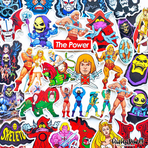 "29 PCS ""Masters of the Universe"" Vinyl Sticker Pack"