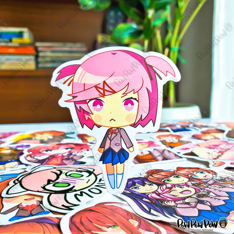 "50 PCS ""Doki Doki Literature Club"" Anime Sticker Pack"