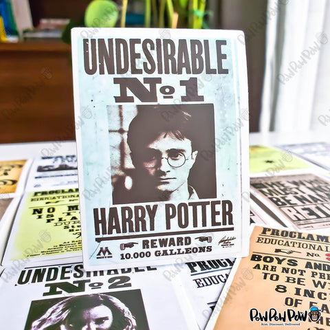 "25 PCS ""Harry Potter Wanted Posters"" Vinyl Sticker Pack"