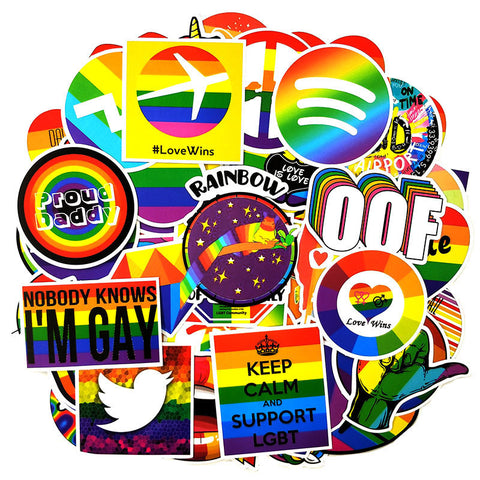 "100 PCS ""Rainbow"" Theme Stickers"