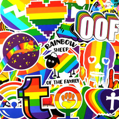 "100 PCS ""LGBT Rainbow"" Theme Stickers"