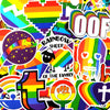 "Image of 100 PCS ""Rainbow"" Theme Stickers"