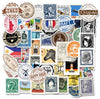 "Image of 50 PCS ""Postmark Stamps"" Waterproof Stickers"