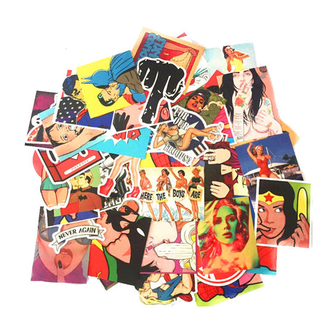 "50 PCS ""Dirty Vulgar"" Waterproof Stickers-SALE"